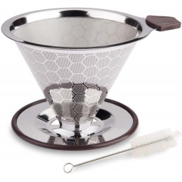 Coffeesmaster Pour Over Coffee Filter - SS Reusable Coffee Dripper