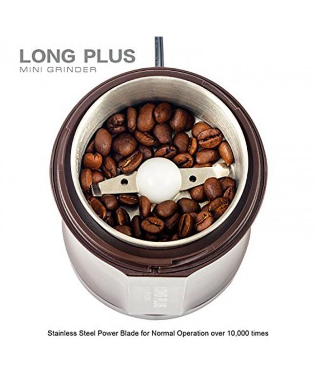 Long Plus Mini Electric Coffee Grinder - 200W