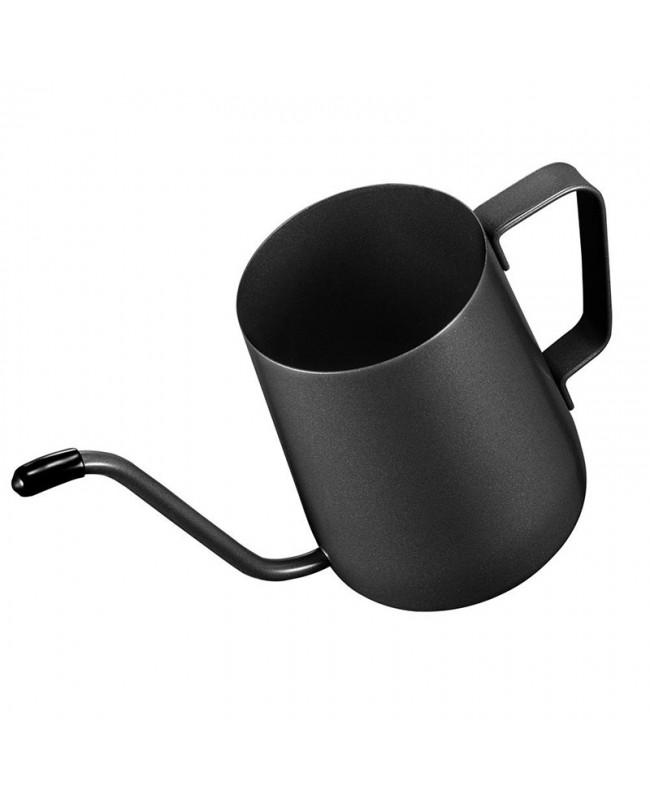 Pour Over Gooseneck Kettle for Hanging Ear Coffee Bag and Tea, Teflon Black