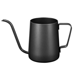 Pour Over Gooseneck Kettle for Hanging Ear Coffee Bag and Tea, Teflon Black