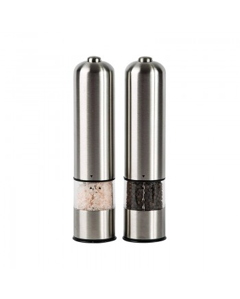 Steel Electric Salt and Pepper Grinder Set2 - Battery Operated