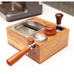 Coffeesmaster 4in1 Wood Espresso Filter Tamper Holder - Tamper Station