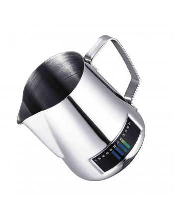 Coffeesmaster Milk Frothing Pitcher - Stainless Steel Creamer Jug- With Integrated Thermometer