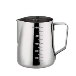 Coffeesmaster Milk Jug - Frothing Cup - Espresso Steaming Pitcher -  with Measurements Bothside