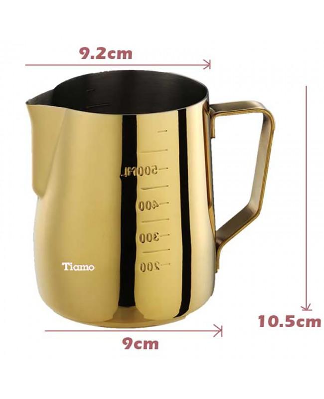 Titanium Plated Espresso Coffee Latte Milk Pitcher - Gold