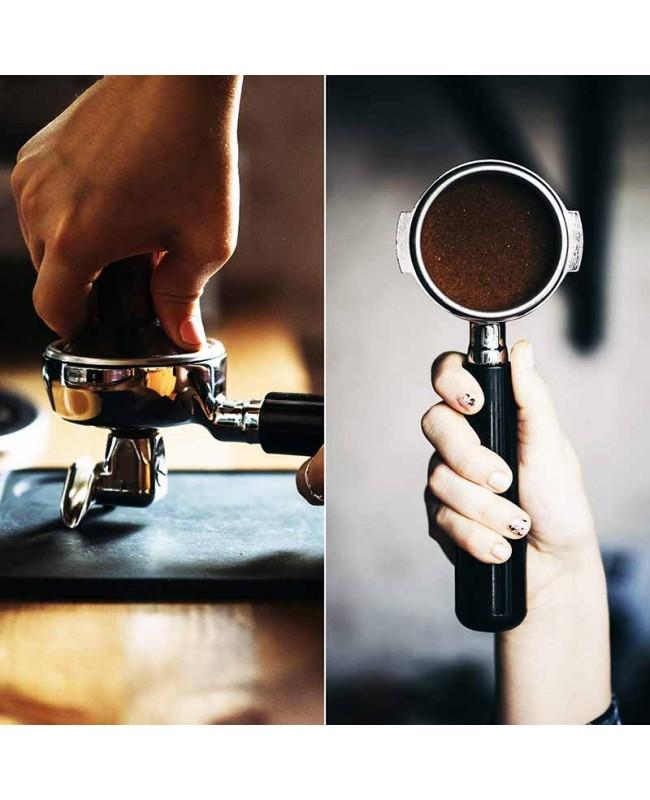 Coffeesmaster 58mm Espresso Tamper - Premium Barista Coffee Tamper with Flat Stainless Steel Base