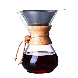 Coffeesmaster 30 Ounce Six Cup Classic Pour-over Glass Coffeemaker