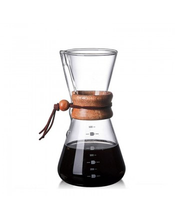 Coffeesmaster 17 Ounce 3 Cup Classic Pour-over Glass Coffeemaker