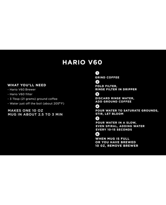 Hario XGS V60 Range Coffee Glass Server